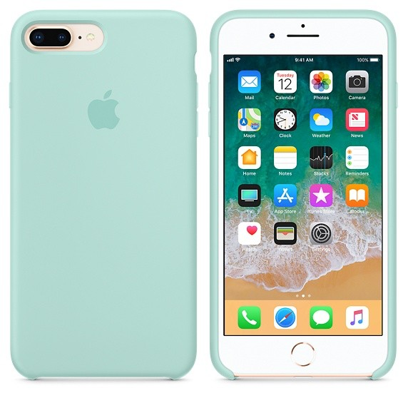 new concept b6923 218a2 Apple Apple Silicone Case for iPhone 8/7 Plus - Marine Green