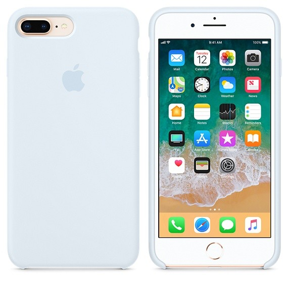 new product d030c 53228 Apple Apple Silicone Case for iPhone 8/7 Plus - Sky Blue