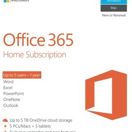 Microsoft Microsoft Office365 Home 1-Year Subscription (English) - Electronic License