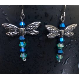 Route 66 Biker Gear Earring Dragonfly