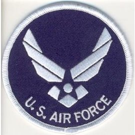 Biker's Stuff Patch Air Force Logo 3in