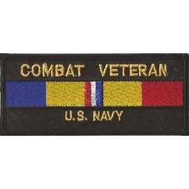Jerwolf Enterprises Patch Combat Veteran Navy