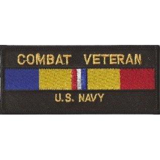 First Coast Biker Gear Patch Combat Veteran Navy