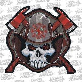 Jerwolf Enterprises Patch Fireman Skull 11in