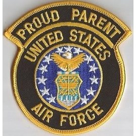 Jerwolf Enterprises Patch Proud Parent Air Force 3in