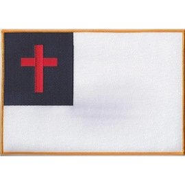 Ozark Biker Shop Patch Christian Flag 12in