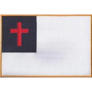 Ozark Biker Shop Patch Christian Flag 12in