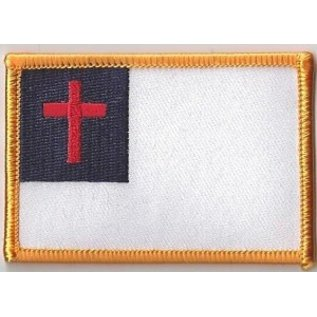 First Coast Biker Gear Patch Christian Flag 3in