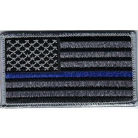 Jerwolf Enterprises Patch American Flag Blue Stripe 3in