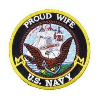 Patch Stop Patch Proud Wife Navy 3in