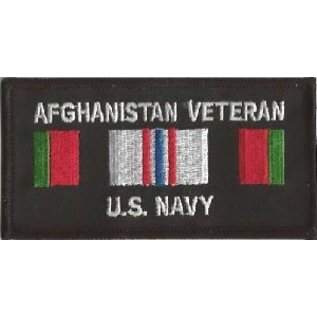 Jerwolf Enterprises Patch Afghan Vet Navy 4in