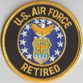 Jerwolf Enterprises Patch Air Force Retired 3in