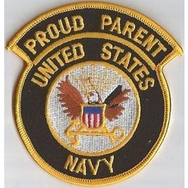 Jerwolf Enterprises Patch Proud Parent Navy 3in