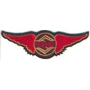 Biker's Stuff Patch Suzuki Wings 3in