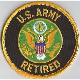 Jerwolf Enterprises Patch US Army Retired 3in