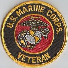 Jerwolf Enterprises Patch USMC Veteran 3in