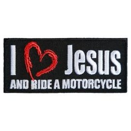 Patch Stop Patch Love Jesus and Ride 4in