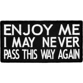 Patch Stop Patch Enjoy Me 4in