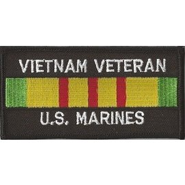 Jerwolf Enterprises Patch Vietnam Vet Marine 4in