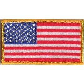 Ozark Biker Shop Patch American Flag Colored 3in