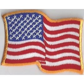 Ozark Biker Shop Patch Waving Flag 4in