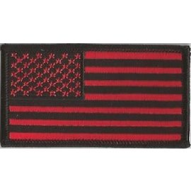 Jerwolf Enterprises Patch American Flag Red/Black 3in
