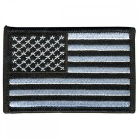 Ozark Biker Shop Patch American Flag Blk/Wht 3in