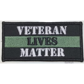 First Coast Biker Gear Patch Veteran Lives Matter 4in