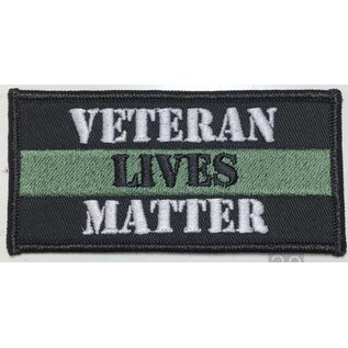 Route 66 Biker Gear Patch Veteran Lives Matter 4in
