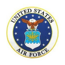 Eagle Emblems Patch Air Force Circle 10in