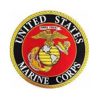 Eagle Emblems Patch Marine Circle 10in