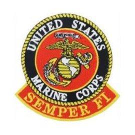 Eagle Emblems Patch USMC Semper Fi 3in