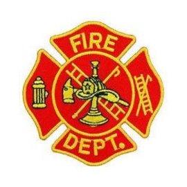 Eagle Emblems Patch Fire Dept Emblem 3in