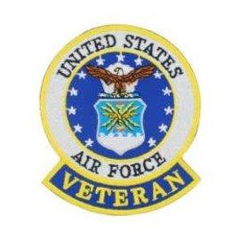 Eagle Emblems Patch USAF Veteran 3in