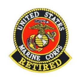 Eagle Emblems Patch US Marine Retired 3in