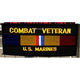 Jerwolf Enterprises Patch Combat Veteran Marines