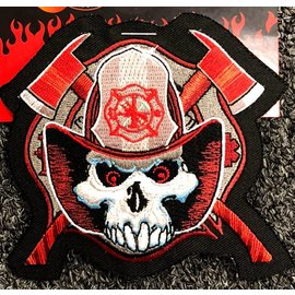 Jerwolf Enterprises Patch Fireman Skull 4in