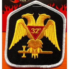 Ozark Biker Shop Patch Mason 32nd Degree 3in