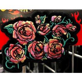 Patch Stop *DISCV* Patch Skull Rosebuds 4in