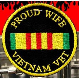 First Coast Biker Gear Patch Proud Wife Vietnam Vet 3in