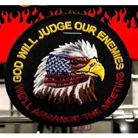 Ozark Biker Shop Patch God will judge our enemies