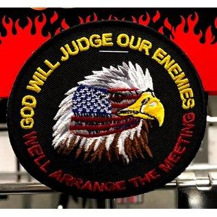 Ozark Biker Shop Patch God will judge our enemies