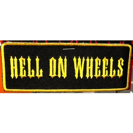 Hot Leather Patch Hell On Wheels 4in