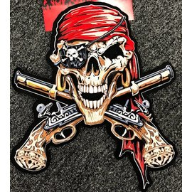 Lethal Threat Patch Pirate Skull 11in