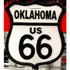 Ozark Biker Shop Patch Route 66 Oklahoma