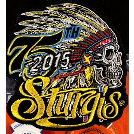 Hot Leather Patch Sturgis Indian Head 2015