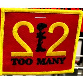 Route 66 Biker Gear Patch 22 Too Many 3 in Yllw/Red