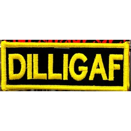 Route 66 Biker Gear Patch DILLIGAF 4in