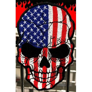 First Coast Biker Gear Patch American Skull Colored 5in