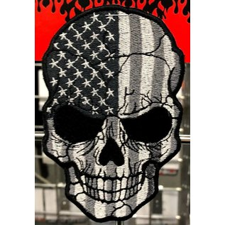 Route 66 Biker Gear Patch American Skull Subdued 5in